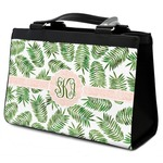 Tropical Leaves Classic Tote Purse w/ Leather Trim (Personalized)