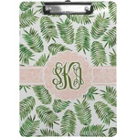 Tropical Leaves Clipboard (Personalized)