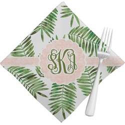 Tropical Leaves Napkins (Set of 4) (Personalized)
