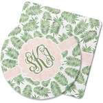 Tropical Leaves Rubber Backed Coaster (Personalized)