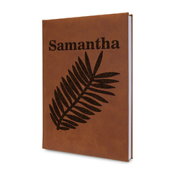 Tropical Leaves Leatherette Journal (Personalized)