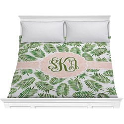 Tropical Leaves Comforter - King (Personalized)