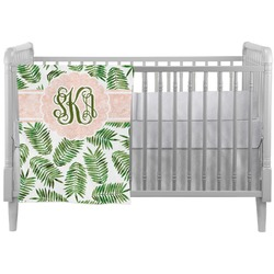 Tropical Leaves Crib Comforter / Quilt (Personalized)