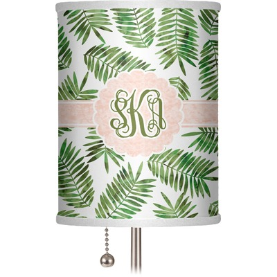 """Tropical Leaves 7"""" Drum Lamp Shade (Personalized)"""