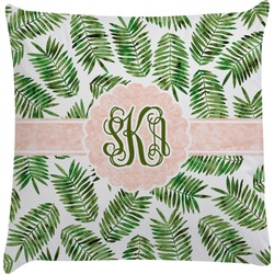 Tropical Leaves Decorative Pillow Case (Personalized)