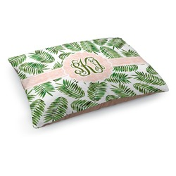 Tropical Leaves Dog Bed (Personalized)