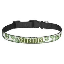 Tropical Leaves Dog Collar (Personalized)
