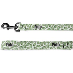 Tropical Leaves Deluxe Dog Leash (Personalized)