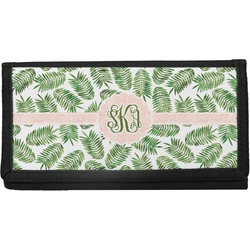 Tropical Leaves Canvas Checkbook Cover (Personalized)