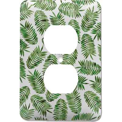 Tropical Leaves Electric Outlet Plate (Personalized)