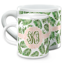 Tropical Leaves Espresso Cups (Personalized)