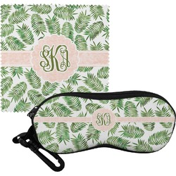 Tropical Leaves Eyeglass Case & Cloth (Personalized)