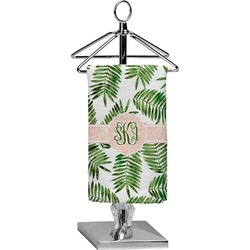 Tropical Leaves Finger Tip Towel - Full Print (Personalized)