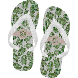 Tropical Leaves Flip Flops (Personalized)