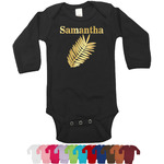 Tropical Leaves Foil Bodysuit - Long Sleeves - Gold, Silver or Rose Gold (Personalized)