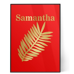 Tropical Leaves 5x7 Red Foil Print (Personalized)