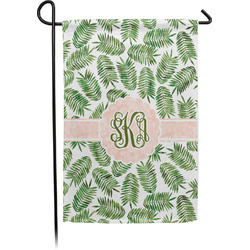 Tropical Leaves Garden Flag - Single or Double Sided (Personalized)
