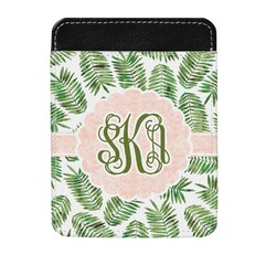 Tropical Leaves Genuine Leather Money Clip (Personalized)