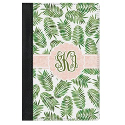 Tropical Leaves Genuine Leather Passport Cover (Personalized)