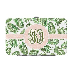 Tropical Leaves Genuine Leather Small Framed Wallet (Personalized)