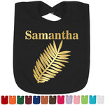 Tropical Leaves Foil Toddler Bibs (Select Foil Color) (Personalized)
