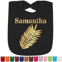 Tropical Leaves Foil Baby Bibs (Select Foil Color) (Personalized)