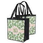 Tropical Leaves Grocery Bag (Personalized)