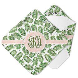 Tropical Leaves Hooded Baby Towel (Personalized)