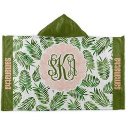 Tropical Leaves Kids Hooded Towel (Personalized)