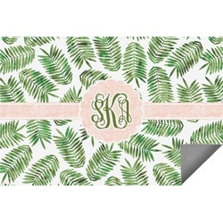 Tropical Leaves Indoor / Outdoor Rug - 6'x9' (Personalized)
