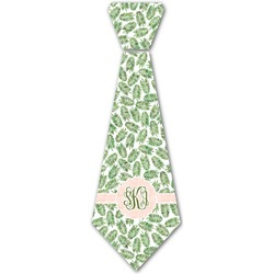 Tropical Leaves Iron On Tie (Personalized)
