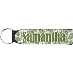 Tropical Leaves Neoprene Keychain Fob (Personalized)