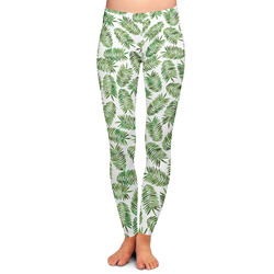 Tropical Leaves Ladies Leggings - Large (Personalized)