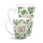 Tropical Leaves Latte Mug (Personalized)