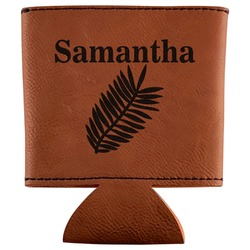 Tropical Leaves Leatherette Can Sleeve (Personalized)