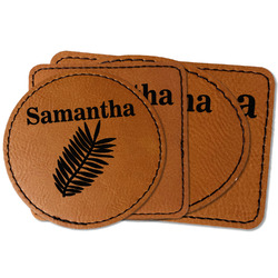 Tropical Leaves Faux Leather Iron On Patch (Personalized)
