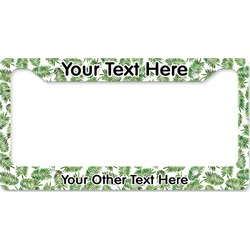 Tropical Leaves License Plate Frame (Personalized)