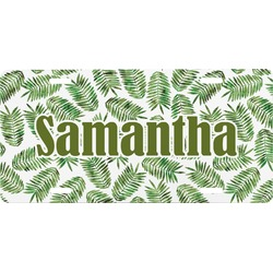 Tropical Leaves Front License Plate (Personalized)