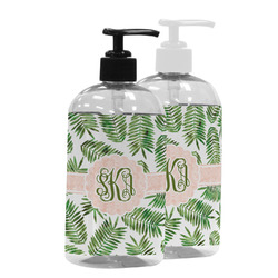 Tropical Leaves Plastic Soap / Lotion Dispenser (Personalized)