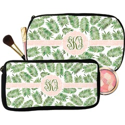 Tropical Leaves Makeup / Cosmetic Bag (Personalized)
