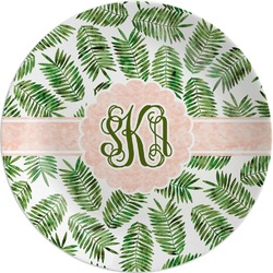 Tropical Leaves Melamine Plate (Personalized)