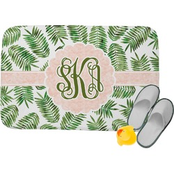 Tropical Leaves Memory Foam Bath Mat (Personalized)