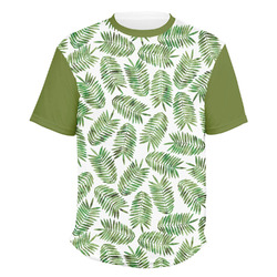 Tropical Leaves Men's Crew T-Shirt (Personalized)