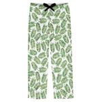 Tropical Leaves Mens Pajama Pants (Personalized)