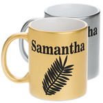 Tropical Leaves Metallic Mug (Personalized)