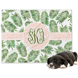 Tropical Leaves Minky Dog Blanket (Personalized)