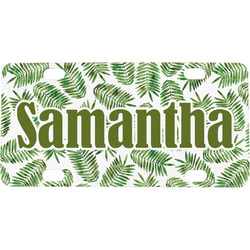 Tropical Leaves Mini / Bicycle License Plate (Personalized)
