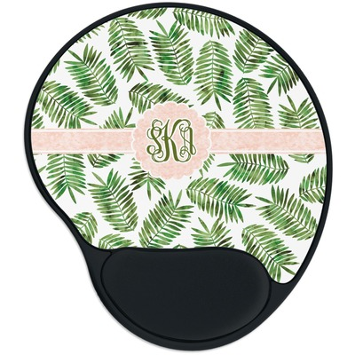 Tropical Leaves Mouse Pad with Wrist Support