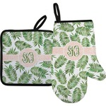 Tropical Leaves Oven Mitt & Pot Holder (Personalized)