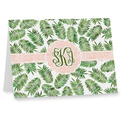 Tropical Leaves Note cards (Personalized)